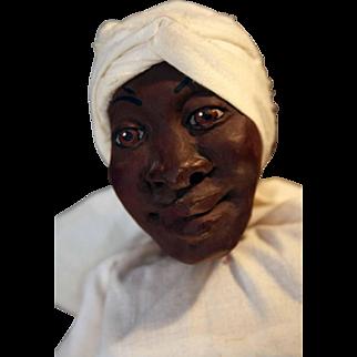"""Nettie  """"Daddy Long Legs"""" cast-resin doll by artist Karen Germany, 24"""" tall in white dress"""