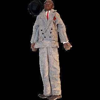 "Reverend Johnson  ""Daddy Long Legs"" cast-resin male doll by artist Karen Germany, 25-1/2"" tall."