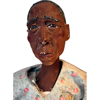 """Oma Green """"Daddy Long Legs"""" cast-resin doll by artist Karen Germany, 20"""" tall"""