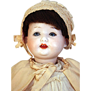 "German bisque head character baby/toddler doll 14"" tall  by Ernst Heubach  mold 267   2/0 EH Germany DRGH circa pre 1919"