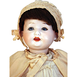 """German bisque head character baby/toddler doll 14"""" tall  by Ernst Heubach  mold 267   2/0 EH Germany DRGH circa pre 1919"""