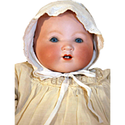 "German bisque head baby doll My Dream Baby 19"" long marked AM Germany by Armand Marseille, circa 1924"