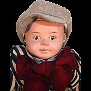 """Martha Chase 17"""" latex head boy doll Circa 1950's"""