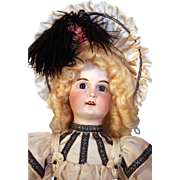 """German bisque head doll 20"""" Limbach repainted compo ball jointed body and beautiful clothing from circa 1911-1927 approximately"""