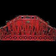 Lionel Wide Standard Gauge Red Bridge Original Paint Pre-War 1901-1940s