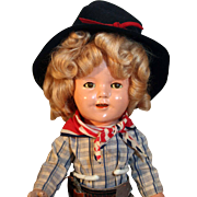 "Shirley Temple 13"" tall composition doll dressed in the style of 'the Texas Ranger'"