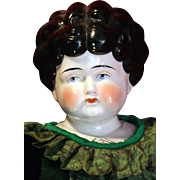 "German antique china head shoulder plate Pet Name Dorothy doll 24"" Circa 1905 tall in good condition."