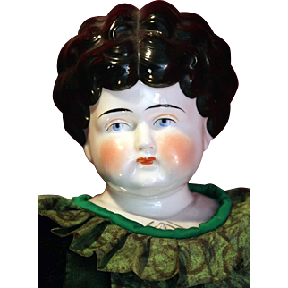 """German antique china head shoulder plate Pet Name Dorothy doll 24"""" Circa 1905 tall in good condition."""