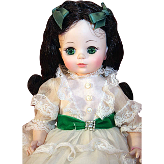 "Madame Alexander plastic 14"" tall doll from Gone With The Wind in good condition."