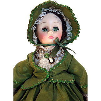 "Madame Alexander plastic doll Scarlett at 12"" tall, Gone With The Wind."