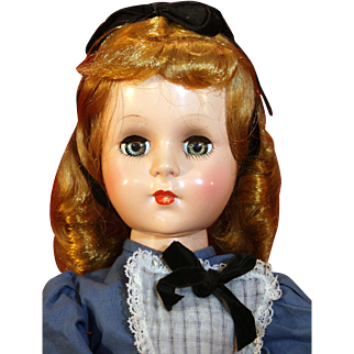 "Sweet Sue 18"" tall doll by American Character as Alice In Wonderland in very good condition from 1953."
