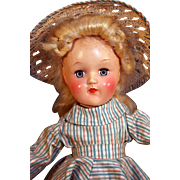"""Ideal Toni Doll P-90 14"""" tall with original box and play wave set"""