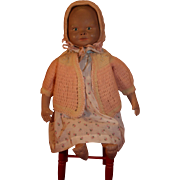 "Martha Chase latex coated cloth hospital baby 21"" tall from 1940-1950's in very good condition."