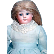 """Antique German Bisque Shoulder Head Doll Cuno and Otto Dressel 15"""" Horse Shoe Mark"""