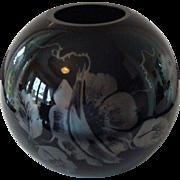 Artist Signed Fenton Art Glass Vase