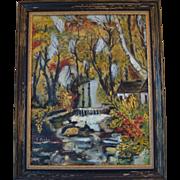 "Elizabeth Fuchs Oil Painting ""Woodland River"""
