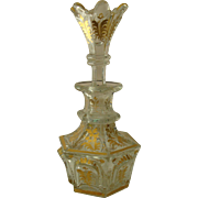 Biedermeier Period Bohemian Gilt Glass Perfume