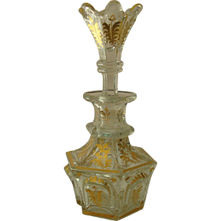 Biedermeier Period Bohemian Gilt Glass Perfume
