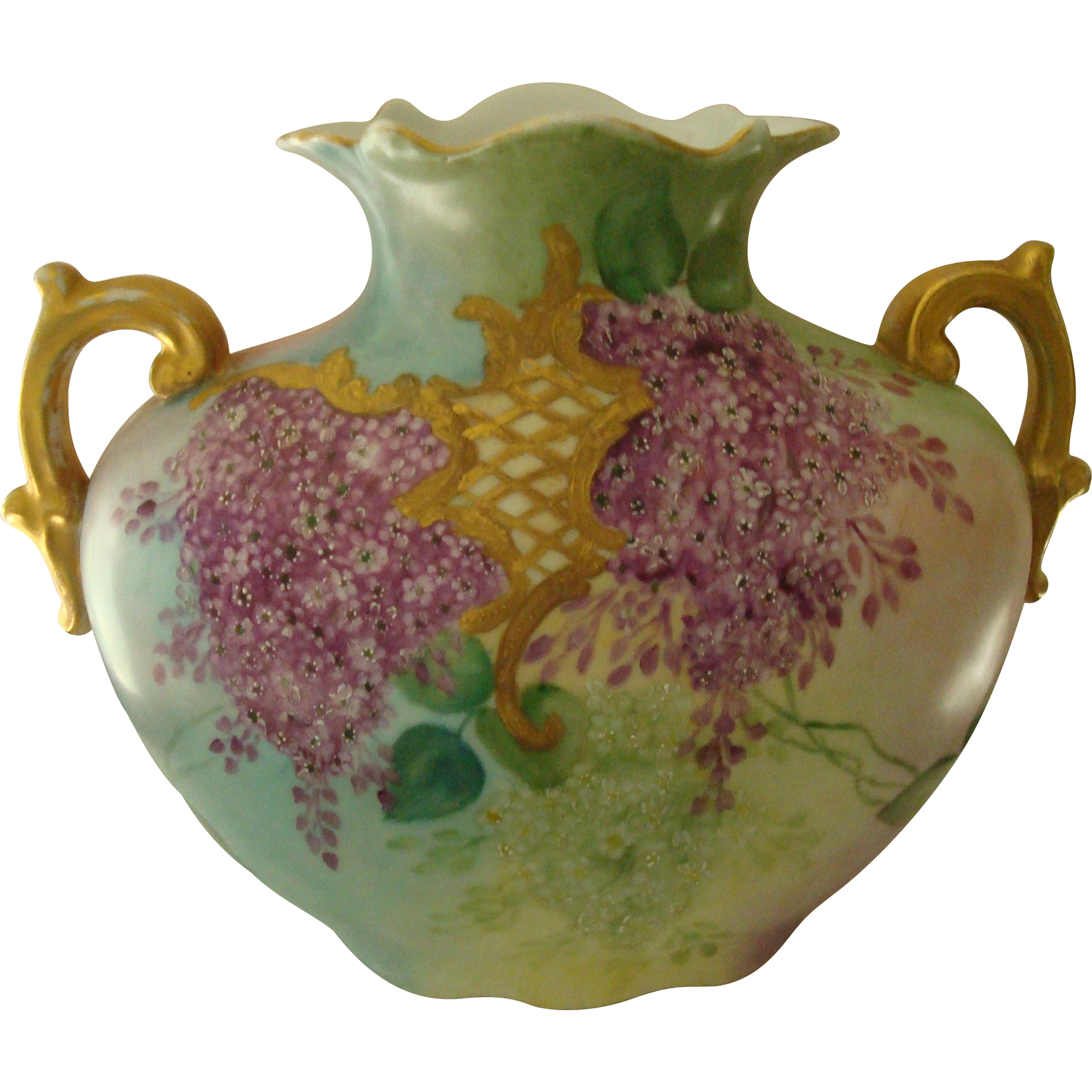 Vienna austrian pillow vase featuring two different hand for Different painting designs