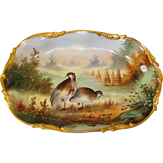 A. Heidrich Signed E.W. Donath Studio Hand Painted Wildlife Platter