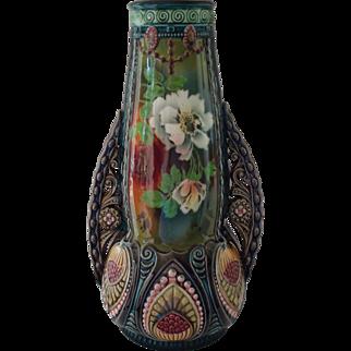 Large Majolica Vase ca 1913-1920
