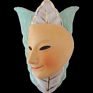 Ceramic Wallpocket w/ Mask