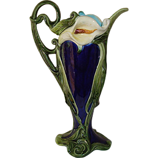 Antique Austrian Majolica Ewer