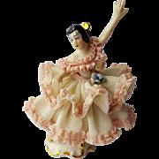Dresden Porcelain Ballerina Figurine