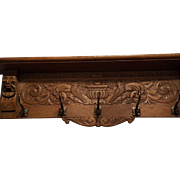Belgian Oakwood Coat Rack