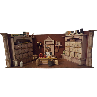 Antique Grocery Store Doll House