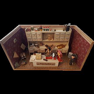 Dollhouse German Grocery Store