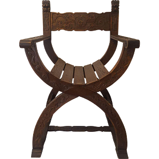 Antique french carved wooden chair