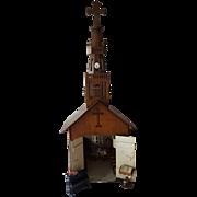 Hand Made German Church Dollhouse