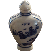 Chinese Kangxi Snuff Bottle Porcelain