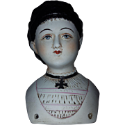 Early Porcelain  German China Doll Shoulder Head