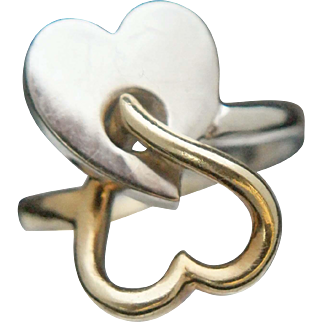 Two-Heart 18k Ring, Italy