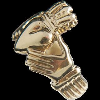 14k Gold Claddagh Ring