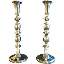 Mood lighting, French style. CARTIER Sterling Candlesticks