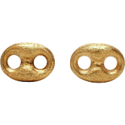 The real McCoys. Or DiMacchios. Italian 18k Cufflinks