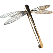 Winging it. 14k Sterling Dragonfly Pendant/Pin