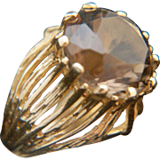Utterly divine. 14k Cognac Topaz Ring