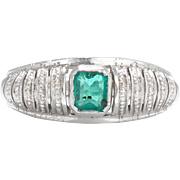 Endless possibilities. 18k Emerald Solitaire Ring