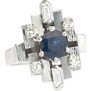 Popularity contest. 18k Sapphire Diamond Ring