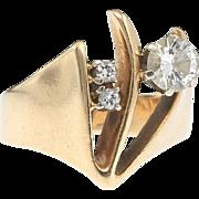 Triple the impact. 14k Diamond Ring