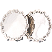 Identical twins - Sterling Silver Salvers, 44 troy oz. total