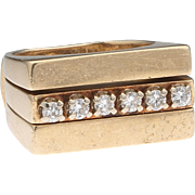 Presto change-o – Modernist 14k Gold Diamond Ring