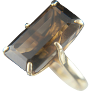 Bigger is better. 18k Topaz RIng