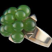 Asian spice. 14k Jade Ring