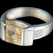 Singular sensation. 14k Citrine Ring