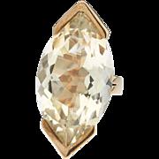 Star power. 14k Marquis Citrine Ring